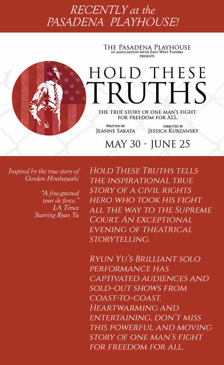 Hold These Truths Poster - Recently at Pasadena Playhouse