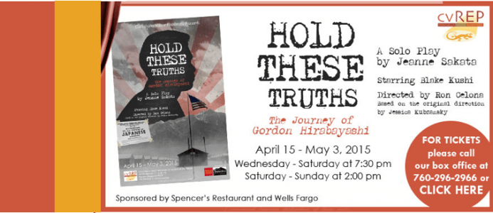 "HOLD THESE TRUTHS Earns Raves in Palm Springs: ""…a tour de force."""
