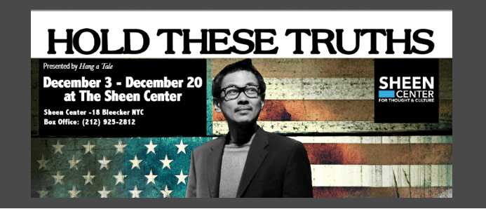 Joel de la Fuente Reprises His Drama Desk Nominated Performance in HOLD THESE TRUTHS with Hang A Tale at the Sheen Center in December 2017